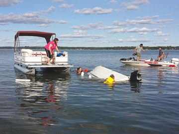 Lake Scugog rescue