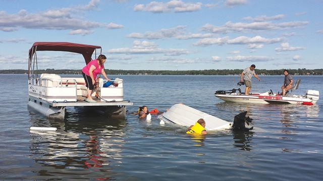 Lake Scugog rescue