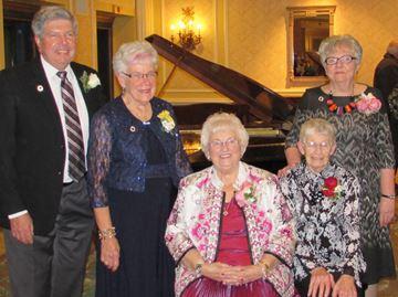 Five RVH volunteers get lifetime auxiliary membership in Barrie