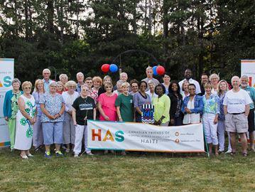 Friends helping in Haiti
