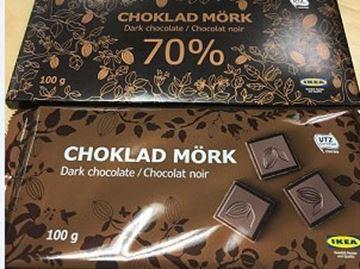 CHOKLAD MÖRK chocolate bars from Ikea
