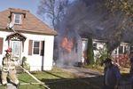 House fire on Thompson Avenue
