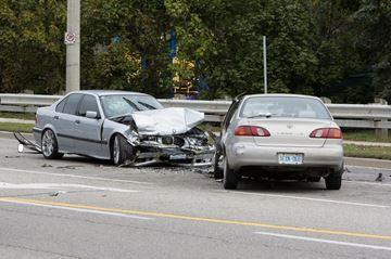 Crash on Clark Boulevard