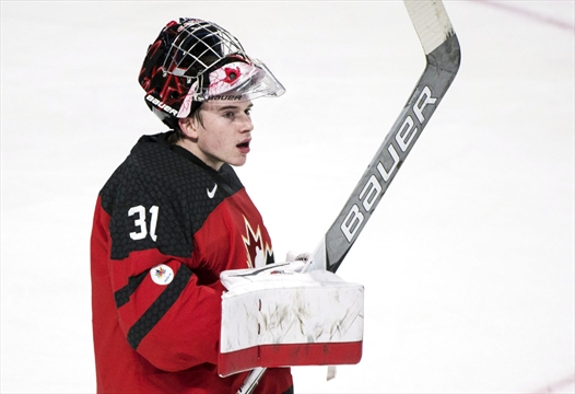 Carter Hart Comes Off Bench To Backstop Canada 5 2 Over