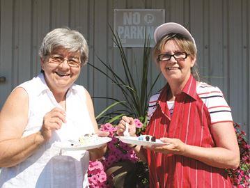 Theresa Tamborine and Margaret Speight
