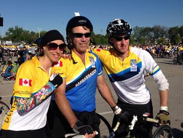 Collingwood man rides to conquer cancer