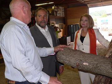 NDP leader Thomas Mulcair in Dundas