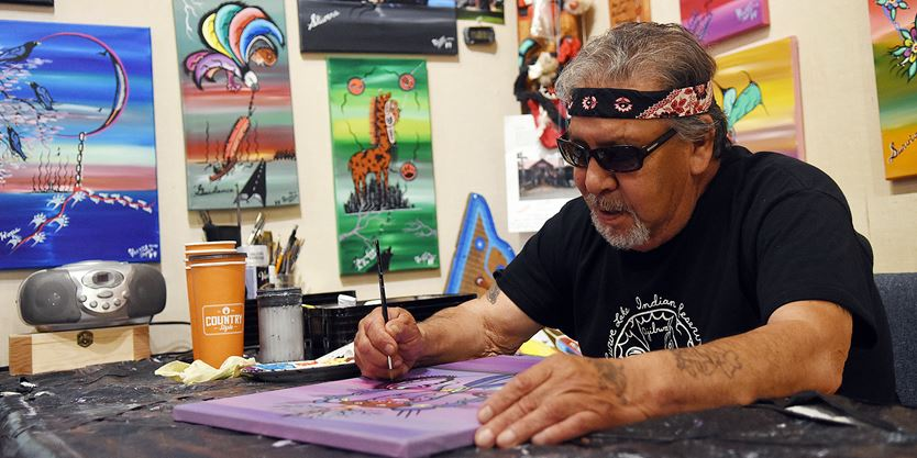 Residential school survivor Fred Taylor finds healing through art