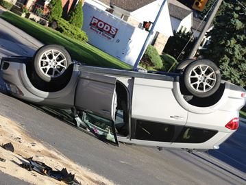 Rollover crash in Oshawa