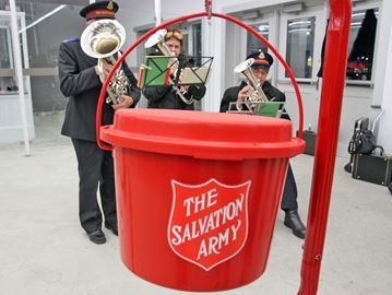 Salvation Army kettle