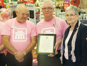 Orillia Home Hardware's community service celebrated