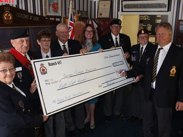 Stayner Legion donates to Collingwood hospital, hospice