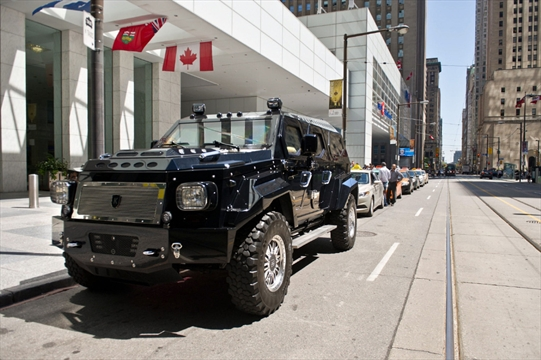 Mega armoured vehicle made in Ontario by hand attracts the rich and