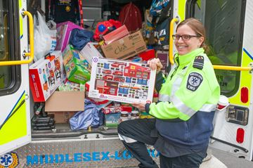 Middlesex-London EMS delivers the holiday goods