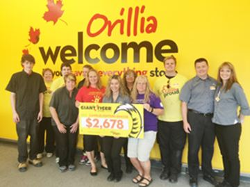 Orillia store helps charity