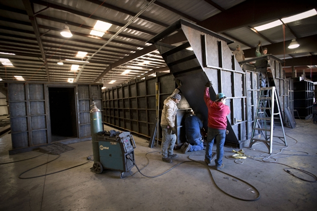 Survival Shelter Metal : Bomb shelter builder stays busy as customers prep for