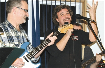 Gazette Events - Marc Giroux was the special guest as the Café House Band rocked the Legion in Sharbot Lake last week. This was the final Café of 2013 but the semi-monthly jam is scheduled to pick up again in February.