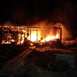 Garage fire on Highway 60