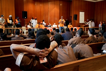 Russell Simmons, LL Cool J visit youth at NYC jail-Image1