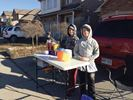 Selling lemonade for mom