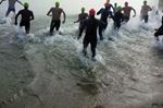 Swimmers take on Lake Simcoe at Innisfil Beach Park Saturday