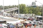 Traffic tie-up at the Peace Bridge