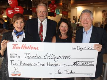 Tim Hortons supports Theatre Collingwood