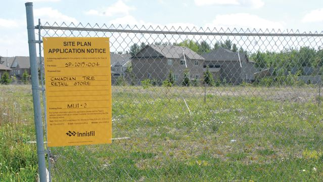 Canadian Tire brings back plan to build Alcona store | Simcoe com