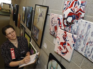 Oakville Grade 12 students' artworks part of annual Spring Orchid Show