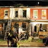 Olive Avenue rowhouse heavily damaged after early morning fire