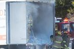 Paper shred truck fire