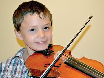 Lucas Candelino recently won the title in the eight-and-under category at the Ottawa Fiddle and Stepdance Competition.