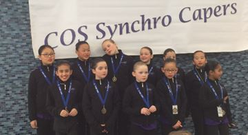 Skate Oakville beginner team earns gold at Synchro Capers