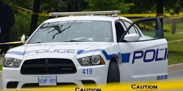 Police are searching for a suspect following a bank robbery in Mississauga.