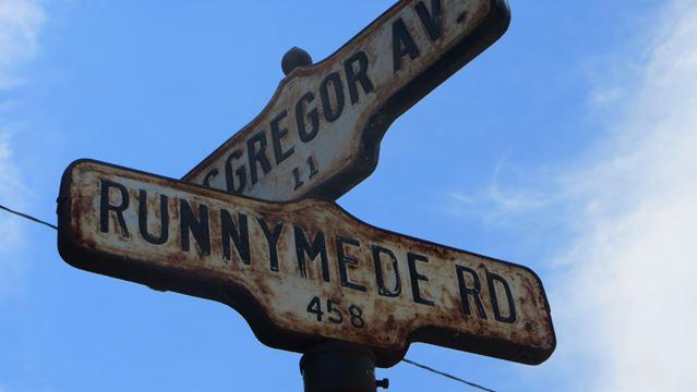 Street Names - Runnymede Rd.