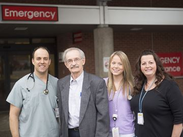 Resident returns to Oakville Trafalgar Memorial Hospital to thank his lifesavers