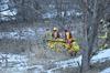 Collins Bay Creek ice rescue