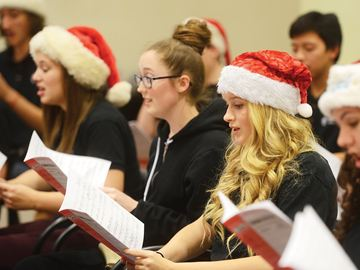 AJAX -- The Young Singers rehearsed in the Ajax Town Hall council chambers, as they prepared for their Holiday Concert on December 7. November 20, 2013