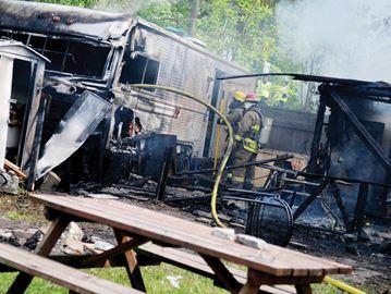 Trailer park fire