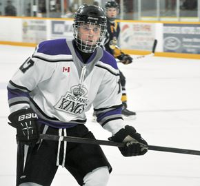 Penetang Kings forward Myles York has become a dependable secondary scoring threat this season, making the Kings an even more formidable opponent.