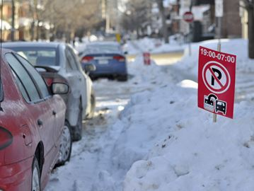 Overnight parking ban changes