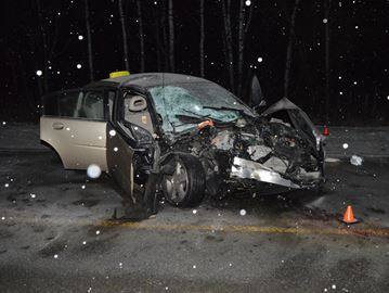Woman extricated after head-on crash between car and ambulance in Innisfil