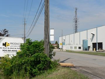 Industries along Arvin Avenue Stoney Creek