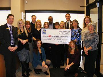 RBC donates to United Way campaign
