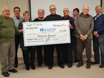 Penetanguishene's Knights of Huronia fund new Georgian Bay General Hospital treatment room