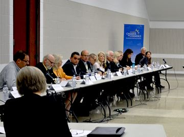 Municipal candidates take to the mic at Caledon Community Complex