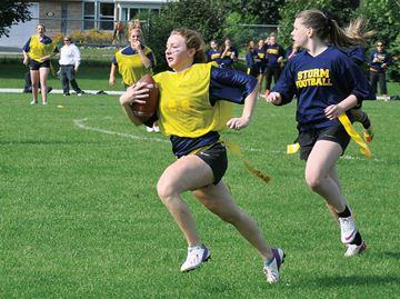 Midland Secondary School flag football team runs away with victory