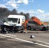 Flaming crash