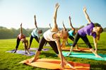 Yoga in the park fundraiser
