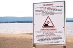 Constance Bay beach warning sign